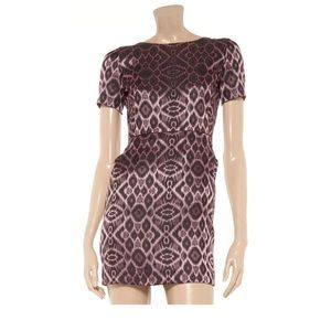 Mackage Dresses & Skirts - Net-A-Porter Mackage Intarsia Plum Mini Dress