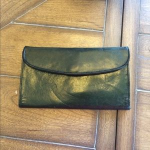 Handbags - Vintage genuine leather green wallet