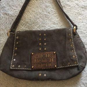 Carolina Herrera Handbags - Carolina Herrera handbag dark gray suede