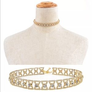 Jewelry - Gold tone choker necklace NEW with tags