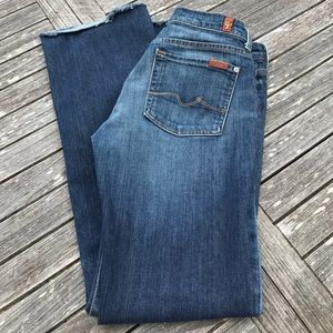 7 for all mankind Boy Cut Button Fly Jeans 28