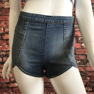 Free People Pants - NEW Free People High Rise Denim Petal Shorts