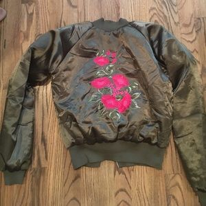 Embroidered Vintage bomber