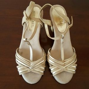 Aerosoles  Shoes - Aerosoles Comfort Gold and Nude Sandals Size 8