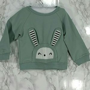 Other - SALE***Light Pistachio Bunny Sweatshirt. Kids   :)