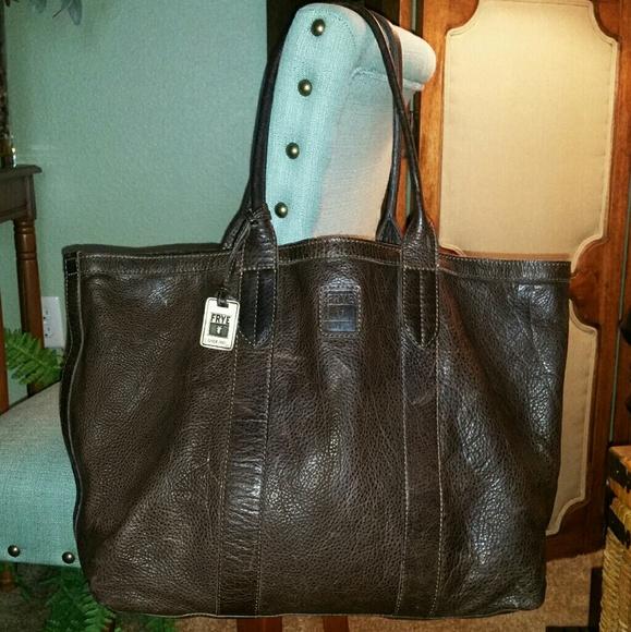 e7efa30f64 Frye Handbags - Frye Sylvia Extra Large Leather Tote in Smoke