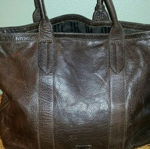 91982829da Frye Bags - Frye Sylvia Extra Large Leather Tote in Smoke