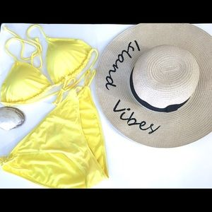 Other - NEW ! Yellow Triangle Bikini Set