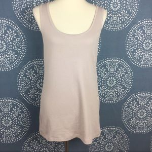 Soft Surroundings Tops - Soft Surroundings Beige Ribbed Tank Top