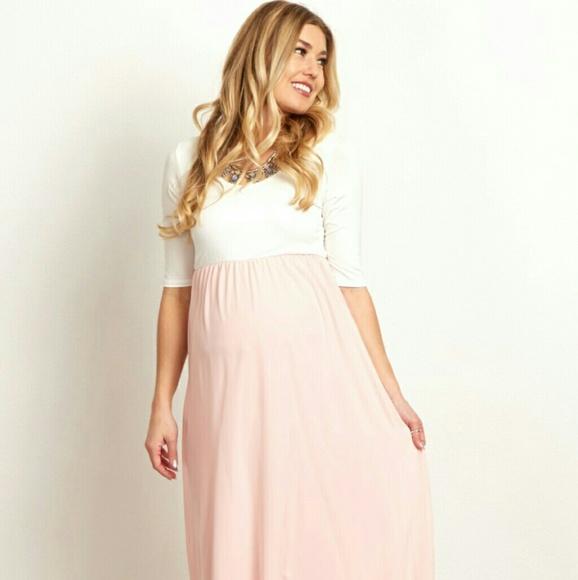 f5933349e2b07 Pinkblush Dresses   Pink Blush Maternity Maxi Dress   Poshmark