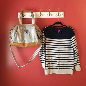 Seraphine Sweaters - Seraphine Breton Striped Nursing Jumper