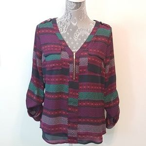Candie's Tops - CANDIES multicolor zippered too