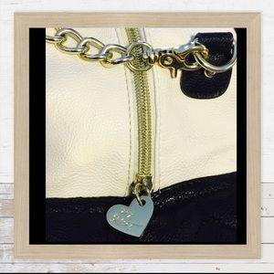 Betsey Johnson Handbags - Betsey Johnson Satchel Wrap Quilt Hearts Black