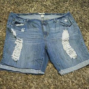 Angel Kiss Pants - Angel kiss La bermuda distressed denim shorts 24