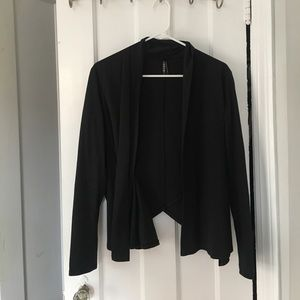 GENTLEFAWN Sweaters - Black cross sweater with some open back