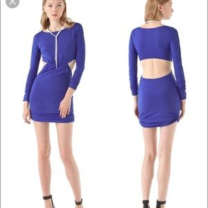 Pencey Dresses & Skirts - Pencey long sleeve open back blue dress XS