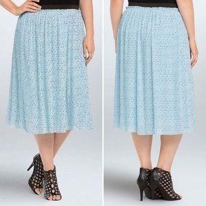 torrid Dresses & Skirts - Star Print Pleated Chiffon Midi Skirt Torrid Sz 2