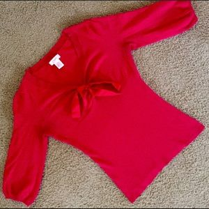 Candie's Tops - Candie's Red Ribbon Top