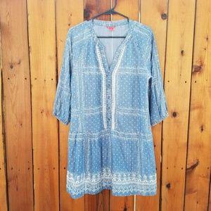 Chelsea & Violet Dresses & Skirts - Chelsea & Violet Blue and White Embroidered Dress