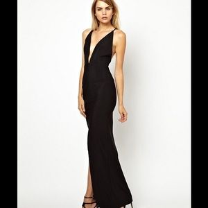 Solace London Dresses & Skirts - Solace London Black Sexy Elegant Backless Dress