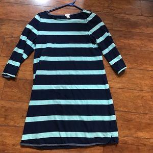 J. Crew striped shift dress