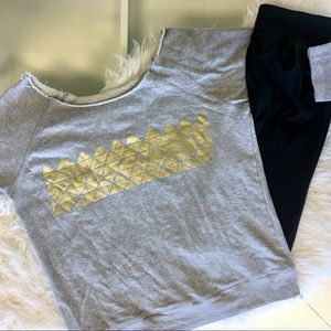 Fabletics Tempe OTS Sweatshirt with Gold Foil