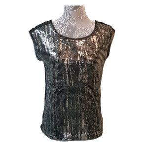 ANN TAYLOR LOFT sequin blouse top
