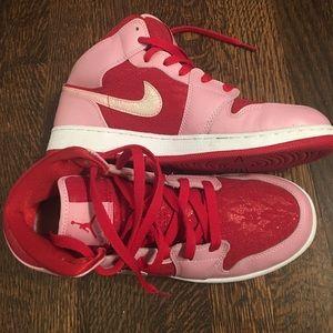 Pink & Red Lace Jordan's