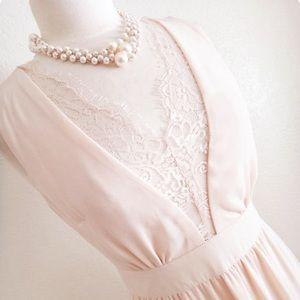 Beautiful blush pink maxi dress small new
