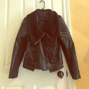 BLANKNYC Leather motorcycle jacket