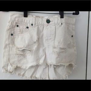 One Teaspoon Dresses & Skirts - 🇺🇸SALE HP 🎉 NEW One Teaspoon white denim skirt