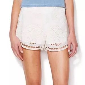 DV by Dolce Vita Pants - DOLCE VITA Eyelet Shorts Intricate Lace Gauze Mini