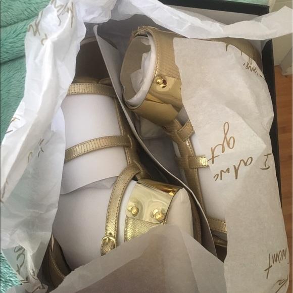bebe Shoes - Gold Bebe Sandals