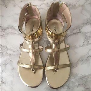 Gold Bebe Sandals
