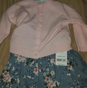 Baby girl dress  with cardigan