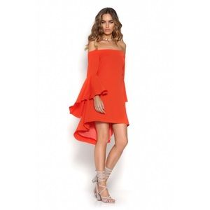 NWT Runaway bell sleeve off the shoulder dress