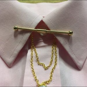 Other - Dress shirt collar bar with chain detail