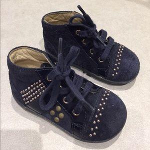 Naturino Other - Italian naturino girls shoe sz 20 navy suede gold