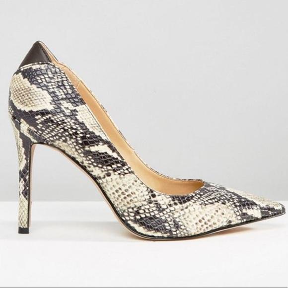 55d258a8c3beaa NEW Sam Edelman Hazel Snake Print Heels