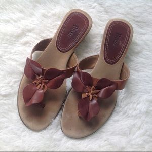 Bass Shoes - Bass Slip on Flip Flop Leather Sandals
