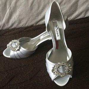 Nina peep toe shoes