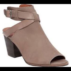 """Lucky Brand Shoes - Lucky brand """"Augusta"""" leather open toe booties"""