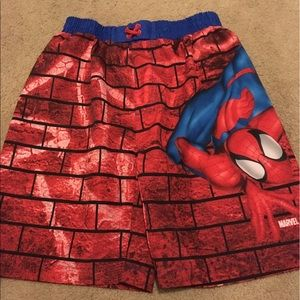 Marvel Other - Marvel Spider-Man boys size 7 swim trunks