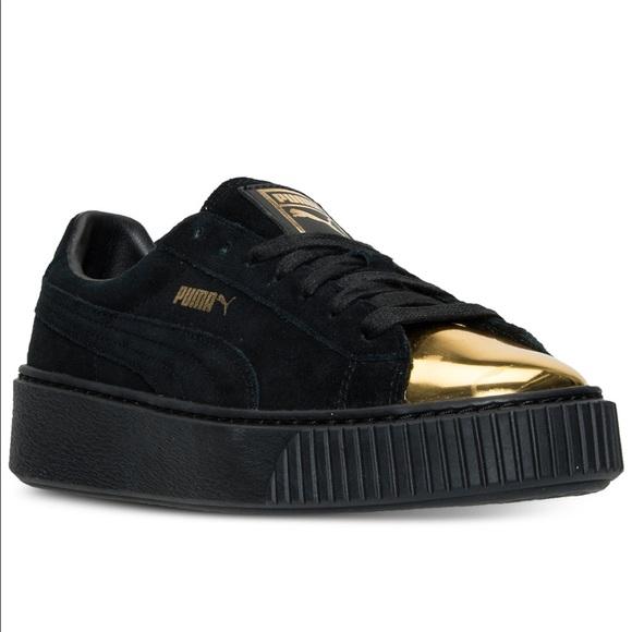28 off puma shoes black and gold puma creepers rihanna. Black Bedroom Furniture Sets. Home Design Ideas