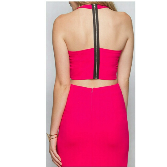 pink pencil skirt with crop from s closet s