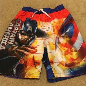 Marvel Other - Marvel Captain America boys size 10/12 swim trunks