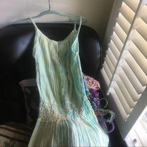 Jen's Pirate Booty Dresses & Skirts - JEN'S PIRATE BOOTY AQUA TIEDYE CROCHET MAXIDRESS