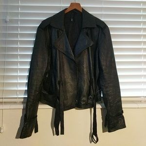 EDUN Jackets & Blazers - Edun leather jacket black M euc