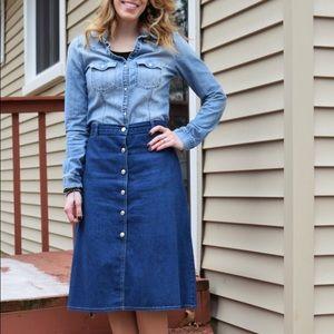 Dresses & Skirts - Aline denim skirt