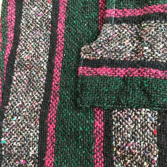 Mexican Rug Images: Vintage Pink & Green Mexican Rug Hoodie Sweater Unisex